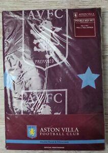 Aston Villa FC Double Duvet Cover Bed Set Football Bedding Pillowcase AVFC