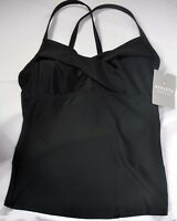 NWT $72 Athleta Twister Tankini Swim Top Black Swimsuit Sold Out on Athleta.com