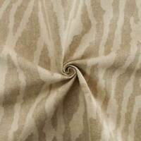 Designer Cotton Zebra Beige Print Home Decorating Fabric, Fabric By The Yard