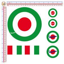 Adesivi Tricolore Bandiera Italia Vespa Sticker auto moto casco helmet 7 pz.