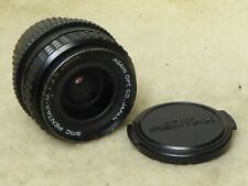 SMC Pentax-M 28mm f/2.8 Prime Lens Pentax K Mount - serviced 4/20 + filter + cap