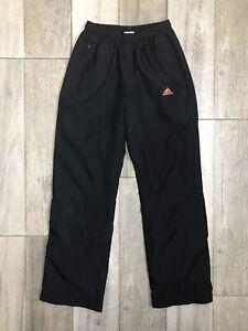 Adidas Boys Athletic Pants Youth Size M Medium Zip Pockets Back Orange Stripes