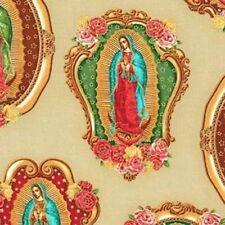 Kaufman Inner Faith Virgin de Guadalupe SRKM-15651-14 Natural w/Gold Met BTY