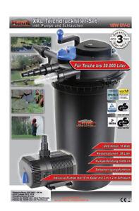 MAUK UVC Teichdruckfilter XXL Set 18W Wasserfilter Teich Filter (Handelsretoure)