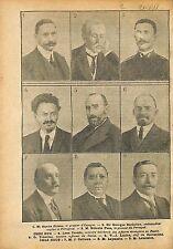 Trosky Lenine Joseph Caillaux Sir George Buchanan Leymarie WWI 1918 ILLUSTRATION