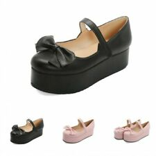 Cute Bowknot Lolita Pumps Oxfords Womens Girl Casual Shoes Mary Janes Oxfords D