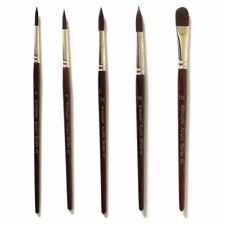Wooden Acrylic Painting Brushes Synthetic Bristle Hair