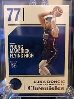 LUKA DONCIC DALLAS MAVS 2018-19 PANINI CHRONICLES BASE ROOKIE RC CARD NUMBER 71