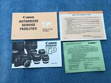 Vintage Canon Fd Lens Instructions Manual Guide Brochure Books V. nice clean