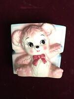 Nice Lefton Ceramic Planter for Child - Pink Lamb