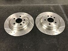 VOLVO 850 C70 S70 V70 T5 DRILLED GROOVED BRAKE DISCS 295MM SOLID TYPE