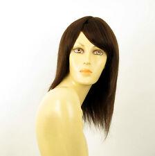 Perruque femme 100% cheveux naturel châtain ref IRINA 6