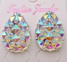 Ab Drop Crystal Diamante Diamond Stud Earrings