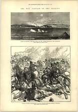 1877 Balkan War Battle Of Dzuranli Prince Leuchtenberg Engraving