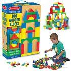 Wooden Blocks Toy Set 100 Piece Classic Building Block Toys Kids Bricks Games