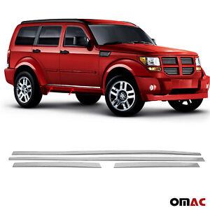 Chrome Side Door Streamer Trim Stainless Steel 4 Pcs For Dodge Nitro 2007-2012