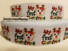 """Grosgrain Ribbon Love My Hero Armed Services Patriotic Home of the Brave 7//8/"""""""