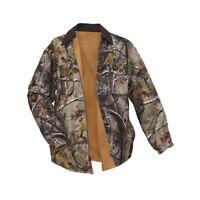 WALLS Men's Realtree Camo Orange Reversible Long Sleeve Shirt Jacket 59050 NWT