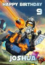 PERSONALISED LEGO NEXO KNIGHTS LANCE BIRTHDAY ANY OCCASION CARD