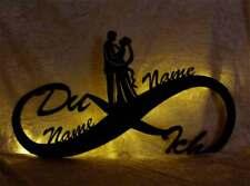 Geschenk zur Hochzeit mit Datum & Namen - LED Hochzeitsgeschenk