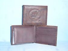 New York NY ISLANDERS Leather BiFold Wallet  NEW  dkbr4