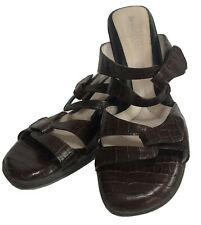 Beautifeel Begonia EU 41 US 10 Brown Reptile Leather Strappy Sandals Open Back