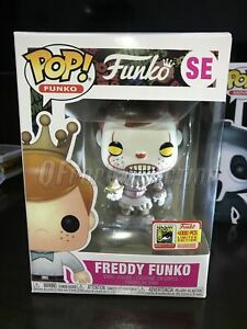 Funko Pop!Freddy Funko SE(Pennywise)2018SDCC Limited Edition MINT With Protector