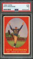 1958 Topps FB Card # 48 Dick Deschaine Green Bay Packers PSA NM 7 !!!