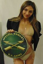 "Special Forces All Metal Sign 14"" Round See Video For Discount"