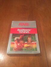 RealSports Tennis Atari 2600 Video Game 1983 NIB New in Package