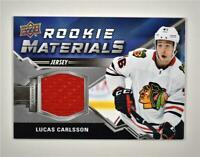 2020-21 UD Series 2 Rookie Materials Relic #RM-LC Lucas Carlsson RC