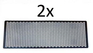 2x Grille Universelle Noir Nid D'abeille Pare-Choc Prise D'air 104 x 34 cm