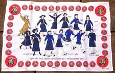 Vintage Ulster Weavers Linen Girl Guide Tea Towel 75 Year Anniversary New