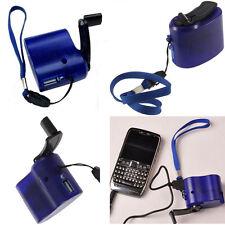 Dynamo Portátil Manivela Generator USB Móvil Teléfono Móvil Emergencia Cargador