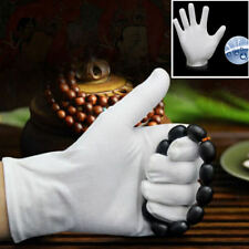 12Pairs White Inspection Cotton Lisle Work Gloves Coin Jewelry Lightweight Set
