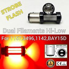 Strobe Front Signal 1157 2057 3496 7528 BAY15D 108 SMD Red LED Bulb M1 MA
