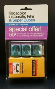 Kodacolor Instamatic Film & Super Cubes Expired 12/1973 NIP Collectible Vintage