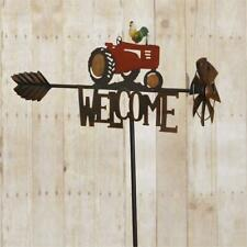 New Country Welcome Tractor Rooster Wind Mill Garden Stake Lawn Ornament Post