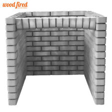 Outdoor brick 90cm grey pizza oven base for 100cm woodfired pizza oven