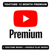 YOUTUBE 12 months Premium | NEW or UPGRADE | READ DESCRIPTION