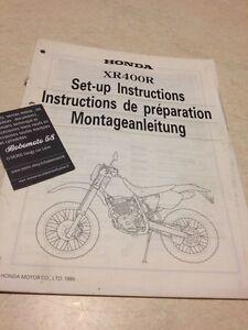 Honda XR400R XR400 R T XR 400 Instrucciones Desde Preparación Set - Hasta