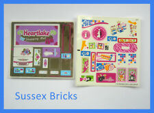 Lego Friends Original New Sticker Sheets Only for 41058 Heartlake Shopping Mall
