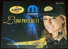 2016 Leah Pritchett Pennzoil Mopar Top Fuel Las Vegas Nhra postcard