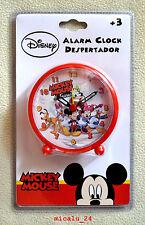 Disney Mickey Mouse Maus Alarm Wecker Kinderwecker Lernwecker Analog Uhr NEU OVP