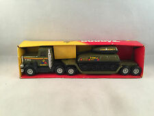 Vintage 1981 Buddy L Peterbilt Army Tank Transport 605H with Original Box
