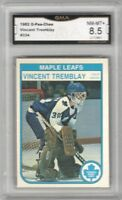 1982-83 O-Pee-Chee #334 Vincent Tremblay RC   Graded NM/MT+   Toronto Maple Leaf