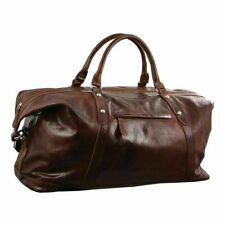 Pierre Cardin PC2824 Rustic Leather Overnight Bag - Cognac