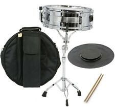 New Student Snare Drum Set with Case, Sticks, Stand and Practice Pad Kit