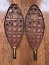 Rare Antique Vintage Metal Snowshoes Miniature Cabin Lodge Camp Decor 8�x 22�