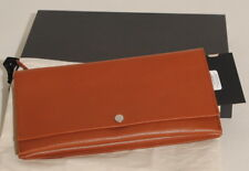 Authentic SHINOLA Accordion Clutch Leather Bag in Bourbon Brown NEW!! $395.00